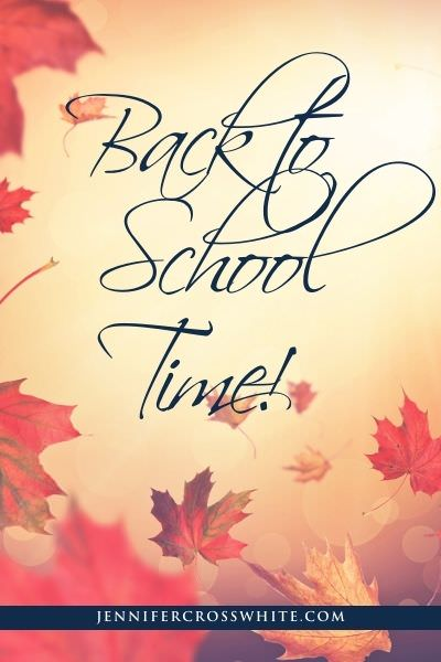Fall leaves, back to school time
